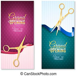 Grand Opening Vertical Banners Set - Grand opening...