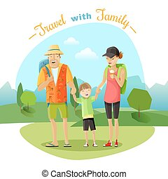 Family Trip Illustration