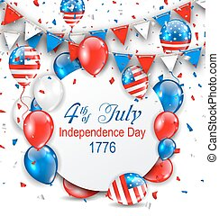Party Background with Traditional American Colors with...