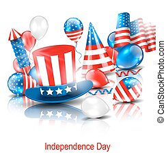 Party Background in Traditional American Colors -...