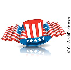 Festive Background in American National Colors -...