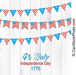 Party Wooden Background in Traditional American Colors -...