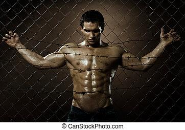 felon man - the very muscular handsome felon guy , misery...