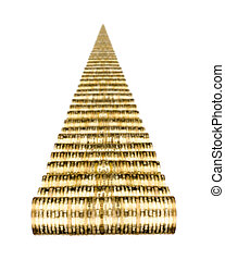 dollars - road of very many rouleau gold monetary or change...
