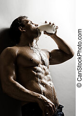 sexy guy - the very sexy muscular handsome sexy guy , drink...