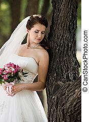 beautiful fiancee - vertical portrait beautiful young...