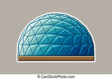 Icon geodesic dome flat - Icon geodesic dome. Vector flat...