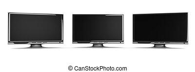 HDTV line - 3D rendered Illustration.