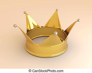 Crown - 3D rendered Illustration