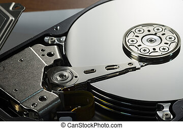 harddisk drive is the data storage - Open cover harddisk and...