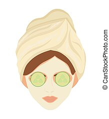 Spa center design. Woman face icon. vector graphic - Spa...