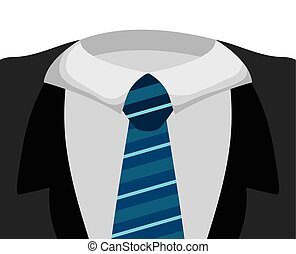 necktie icon Suit male part design vector graphic - Part of...