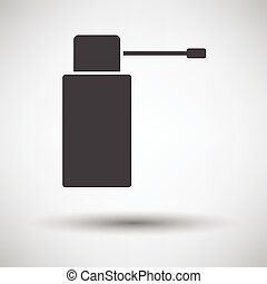 Inhalator icon on gray background, round shadow Vector...