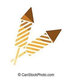 Party petard icon Flat color design Vector illustration