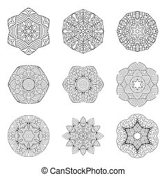 Mandalas collection. Decorative element.