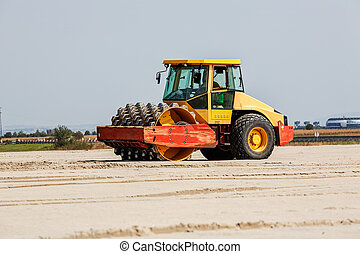 road making - Road making with heavy machines