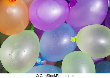 Water balloons - Summer fun concept: colorful water...