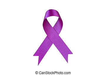 Purple Ribbon. Pancreatic Cancer awareness. healthcare and...