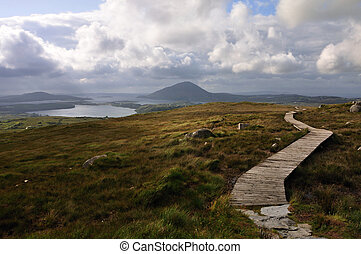 View over Connemara National Park, - Very nice and famouse...