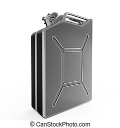 dark blurry metal jerry can fuel canister render isolated -...