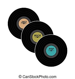 Vinyl records. Vector illustration