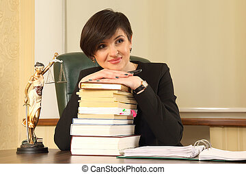 successful woman lawyer at work in the office