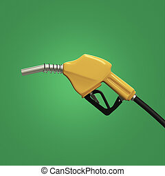 filling gun. gas refuelling nozzle, gasoline pump  render isolated