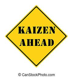 Kaizen, à frente, sinal,
