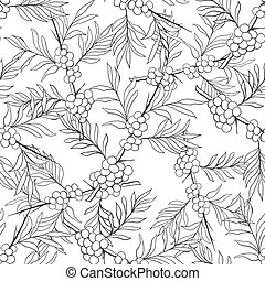 Seamless black and white pattern with...