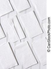 White Napkins on White Table