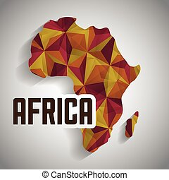 Africa design map shape icon, vector graphic - Africa...
