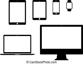 portable-device-icon-set-3 - mobile, tablet, laptop,...