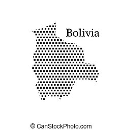 map of Bolivia,dot