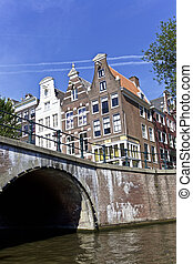 Amsterdam, Netherlands - City Scene of Amsterdam,...