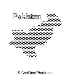 map of Pakistan,dot