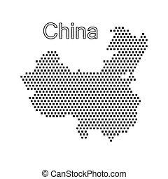 map of China,dot