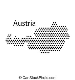 map of Austria,dot