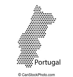 map of Portugal,dot