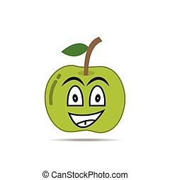 apple fruit character