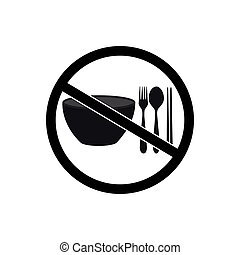 vector of No eating