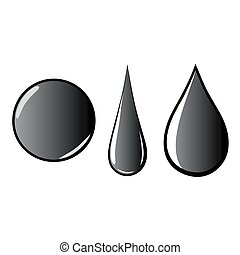 melted oil water petroleum black