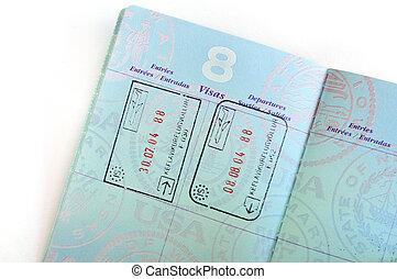 Visa Stamps in American Passport