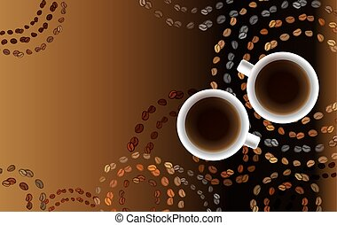 Abstract coffee design with circles