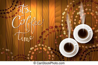 Abstract coffee design with light