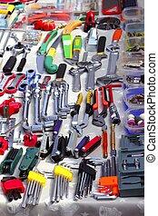 ganga, mano, herramientas, segundo, mano, Mercado