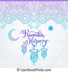 decorative design for holy month of muslim community...