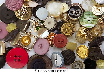 clothing buttons collection mess pattern