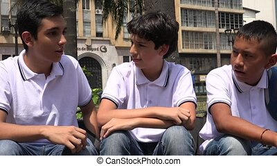 People Laughing Teen Boys