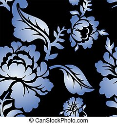Gzhel Russian national seamless pattern Traditional Russian...