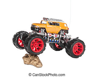 Big truck toy Isolated on a white background